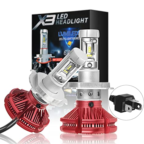 H4 9003 HB2 LED Headlight Bulbs X3 Series Led Bulbs Conversion Kit with 2 Pcs of