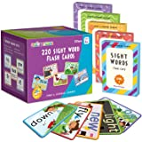 SpringFlower Sight Words Flash Cards with Pictures,Motions&Sentences, 220 Dolch Sight Words for Preschool, Kindergarten, 1st,