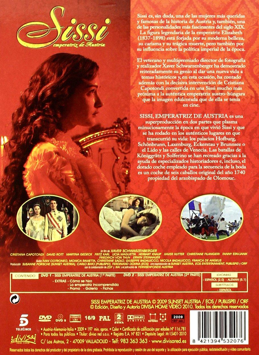 Amazon.com: Sissi. Emperatriz De Austria Digipack (2 Dvd) (Non Us Format) (Region 2) (Import): David Rott,Martina Gedek Cristiana Capotondi, ...