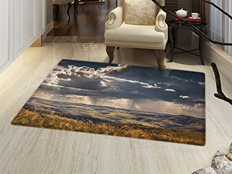 Superieur Smallbeefly Rustic Door Mats Area Rug Puffy Clouds In The Sky Over  Mountains Rough Valley Canyon