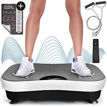 Sportstech Plataforma vibratoria VP210 Bluetooth, tecnología de oscilación para Uso doméstico, función de reflexología magnética, Cuerdas de Resistencia + ...