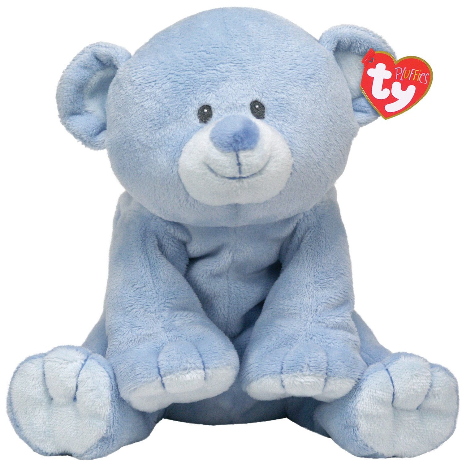 Amazon Com Ty Baby Woods Blue Bear Pluffies Toys Games