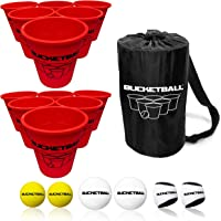 BucketBall - Giant Yard Pong Edition - Ultimate Beach, Pool, Yard, Camping, Tailgate, BBQ, Lawn, Wedding, Events, Water, Indoor, Outdoor Game Toy for Adults, Boys, Girls, Teens, Family