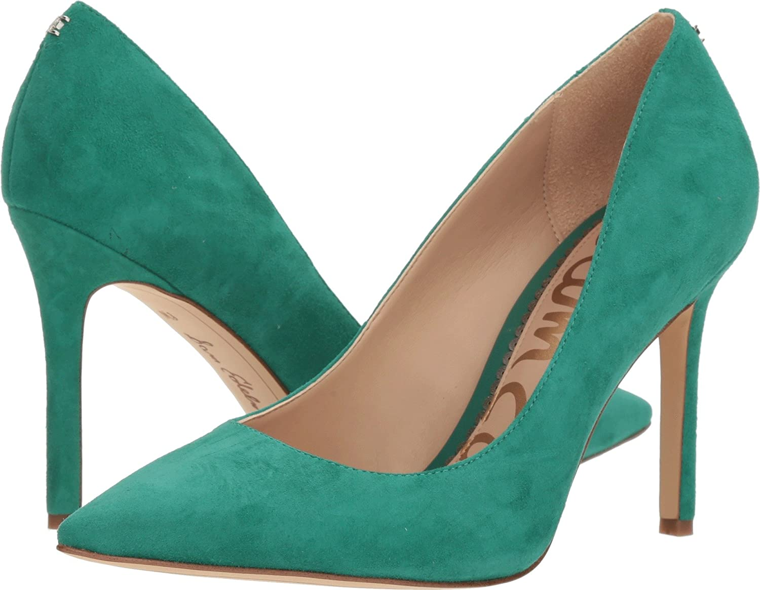 Sam Edelman Women's Hazel Dress Pump B076NXKF17 9 W US|Jade Green Kid Suede Leather