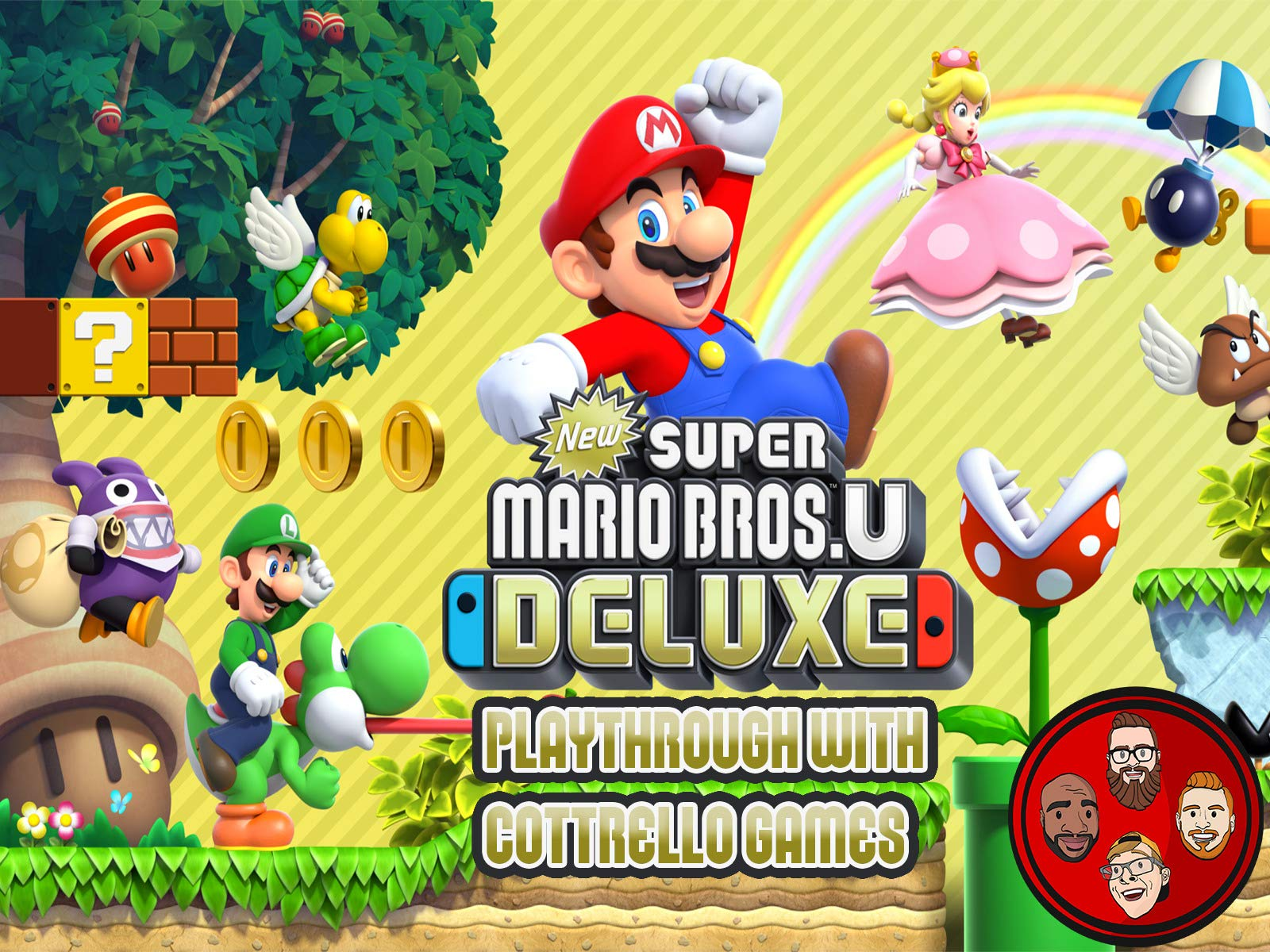 Clip: New Super Mario Bros. U Deluxe Multiplayer Playthrough with Cottrello Games - Season 1
