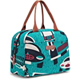 LOKASS Lunch Bag Cooler Bag Women Tote Bag Insulated Lunch Box Water-resistant Thermal Lunch Bag Soft Leak Proof Liner Lunch Bags for women/Picnic/Boating/Beach/Fishing/School/Work(Blue Car)