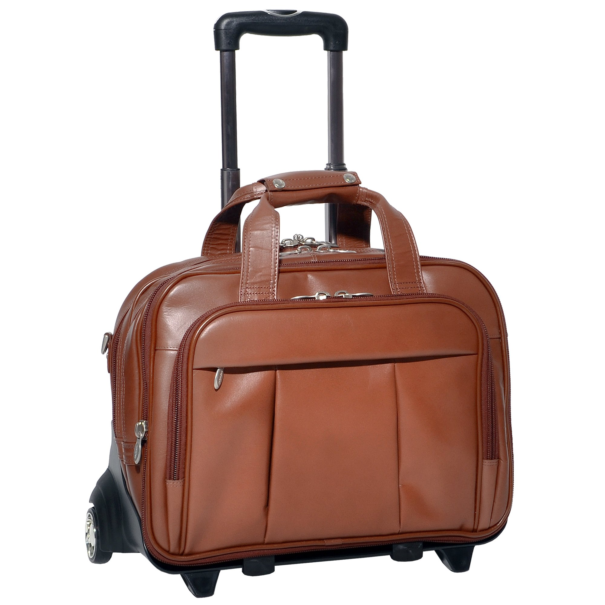 McKleinUSA Damen 80714 R Series Leather Detachable-Wheeled Laptop Case (Brown) by McKleinUSA