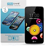 Yousave Accessories LG K4 Screen Protector 5 Pack [Ultra Thin] Crystal Clear [Triple Layer Scratch Guard Technology]