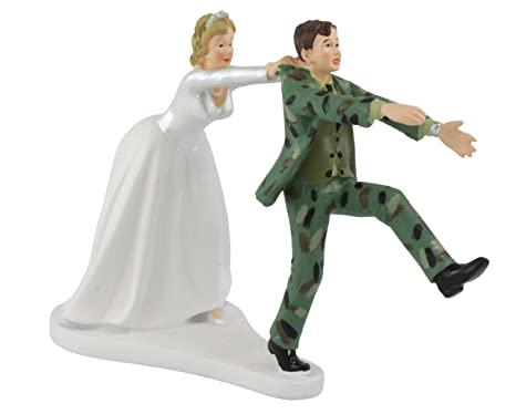 Incredible Wilton Camo Groom Bride Wedding Cake Topper Download Free Architecture Designs Scobabritishbridgeorg