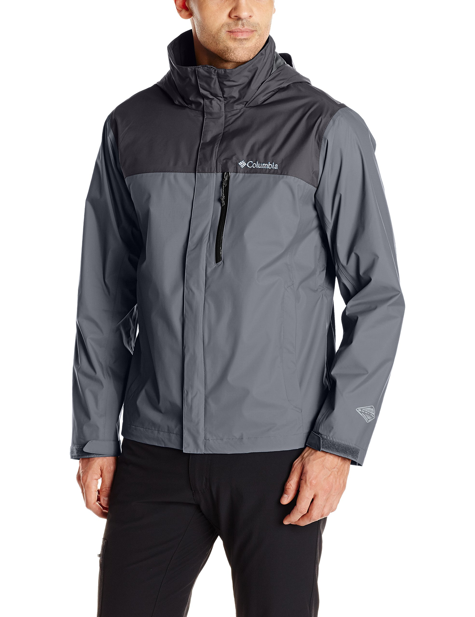 Columbia Men's Pouration Jacket, Graphite/Black, Small