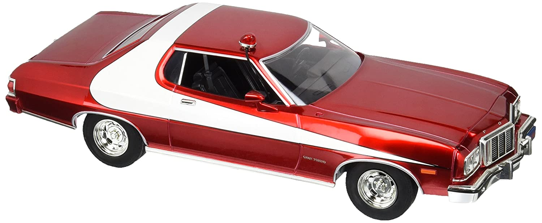 Greenlight Artisan Starsky & Hutch Ford Gran Torino Vehicle (1:18 Scale),  Red Chrome