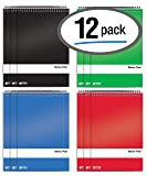 Spiral Steno Pads, 12 Pack, 6 x 9 inches, 80