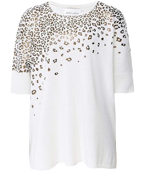 ef12ece99460f4 Absolut Cashmere Women's Cashmere Leopard Foil Jumper Cream: Amazon.co.uk:  Clothing