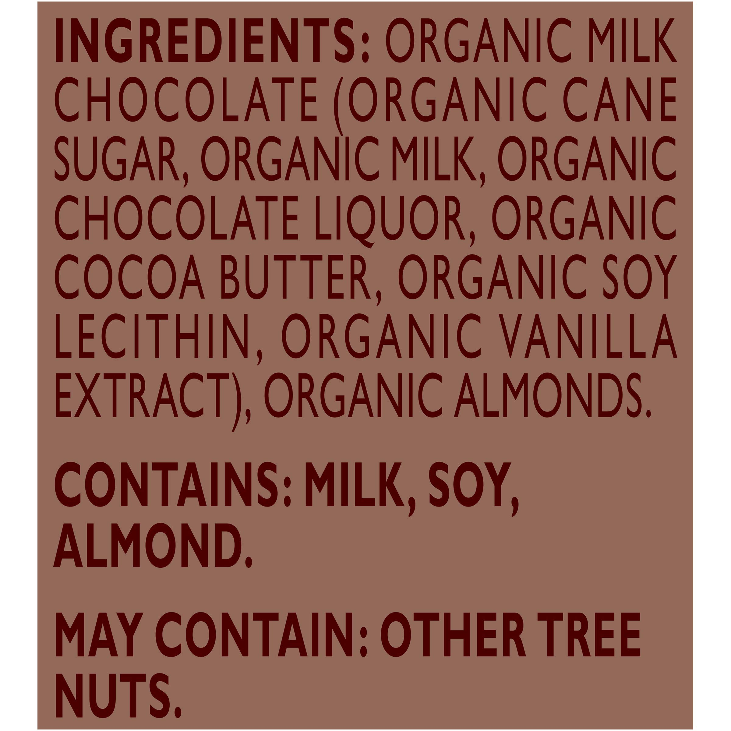 Green & Black's Organic Milk Chocolate With Almonds, 37% Cacao, 10Count by Green & Black's