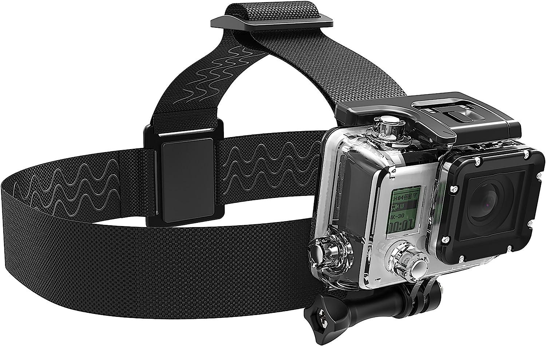 Sabrent Montura para cámara GoPro con correa para la cabeza [Compatible con todas las cámaras GoPro] (GP-HDST)