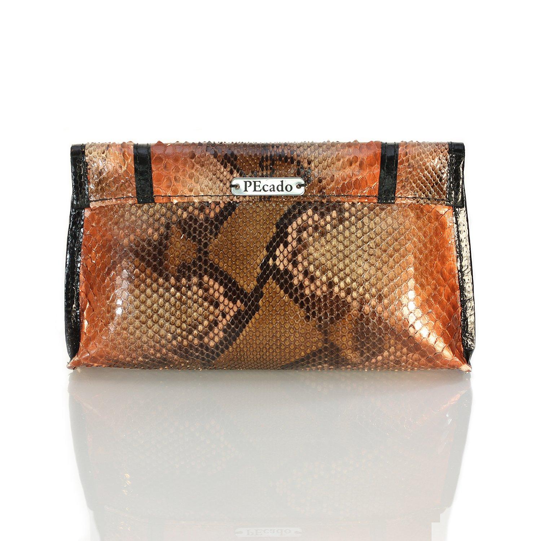 PEcado Handbags Women's Ombre Clutch Genuine Python