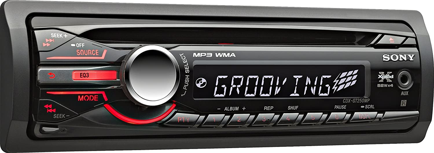 amazon com: sony cdxgt250mp mp3/wma/cd receiver (discontinued by  manufacturer): cell phones & accessories