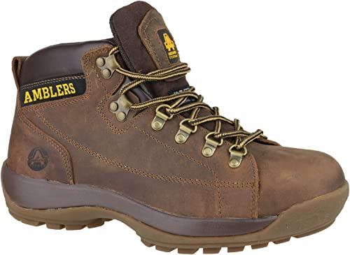 Amblers Mens Safety Work Boots Brown