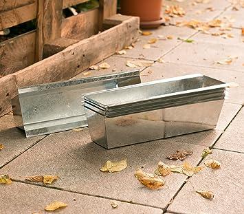 Europaletten Garten unbekannt 6 pflanz schalen gefäße behälter metall verzinkt für