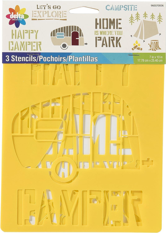 Delta Creative 960070006 Camping Everyday Design Stencil Pack