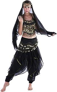 aecc879f4098 Seawhisper 12 Colors Belly Dance India Arab Dance Halloween Carnival Costume  Set