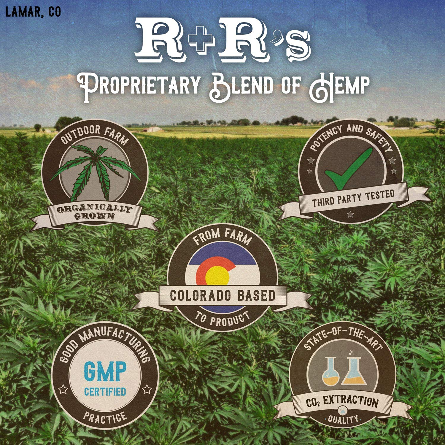 Hemp Oil 1000mg :: Hemp Oil for Pain :: Stress Relief, Mood Support, Healthy Sleep Patterns, Skin Care (1000mg, 36mg per Serving x 28 Servings) : R+R Medicinals by R+R Medicinals (Image #6)