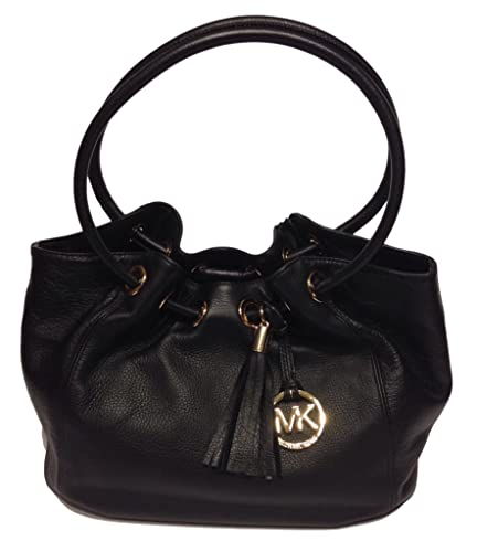c0e84213c06d Michael Kors Ring Tote MD EW Black Leather: Handbags: Amazon.com