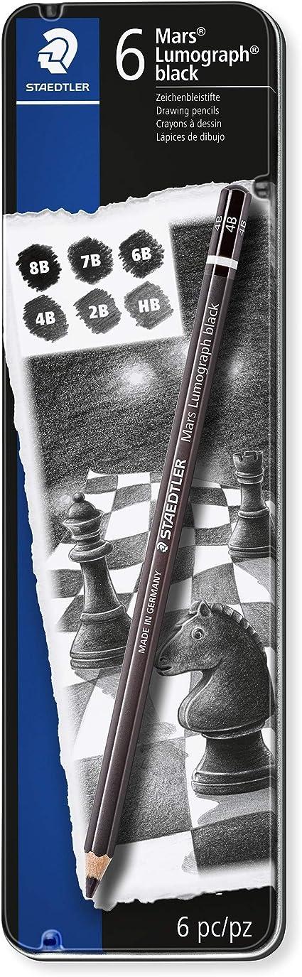 Image ofStaedtler 100B G6 ST, Lápiz, 6 unidades, Negro