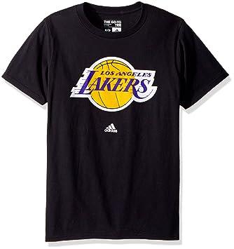 detailed look b052f e7e82 adidas Los Angeles Lakers Black Primary Logo T-Shirt