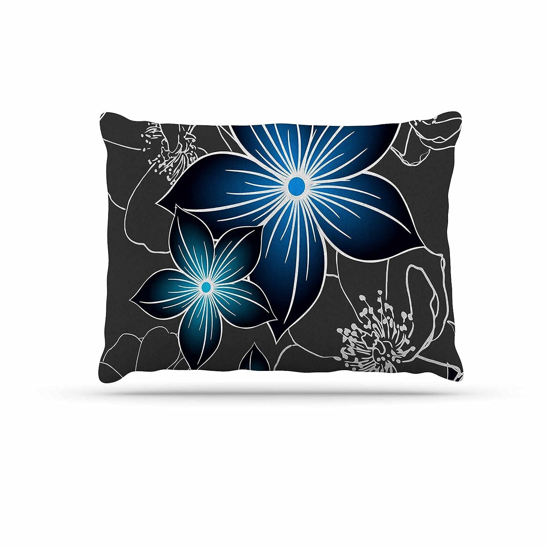KESS InHouse Alison Coxon Pebbles bluee Aqua Dog Bed, 50  x 40