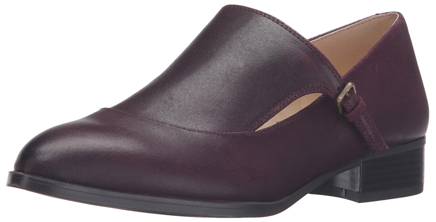 Nine West Women's Nyessa Leather Monk-Strap Loafer B01ENO2U0Q 7.5 B(M) US|Wine