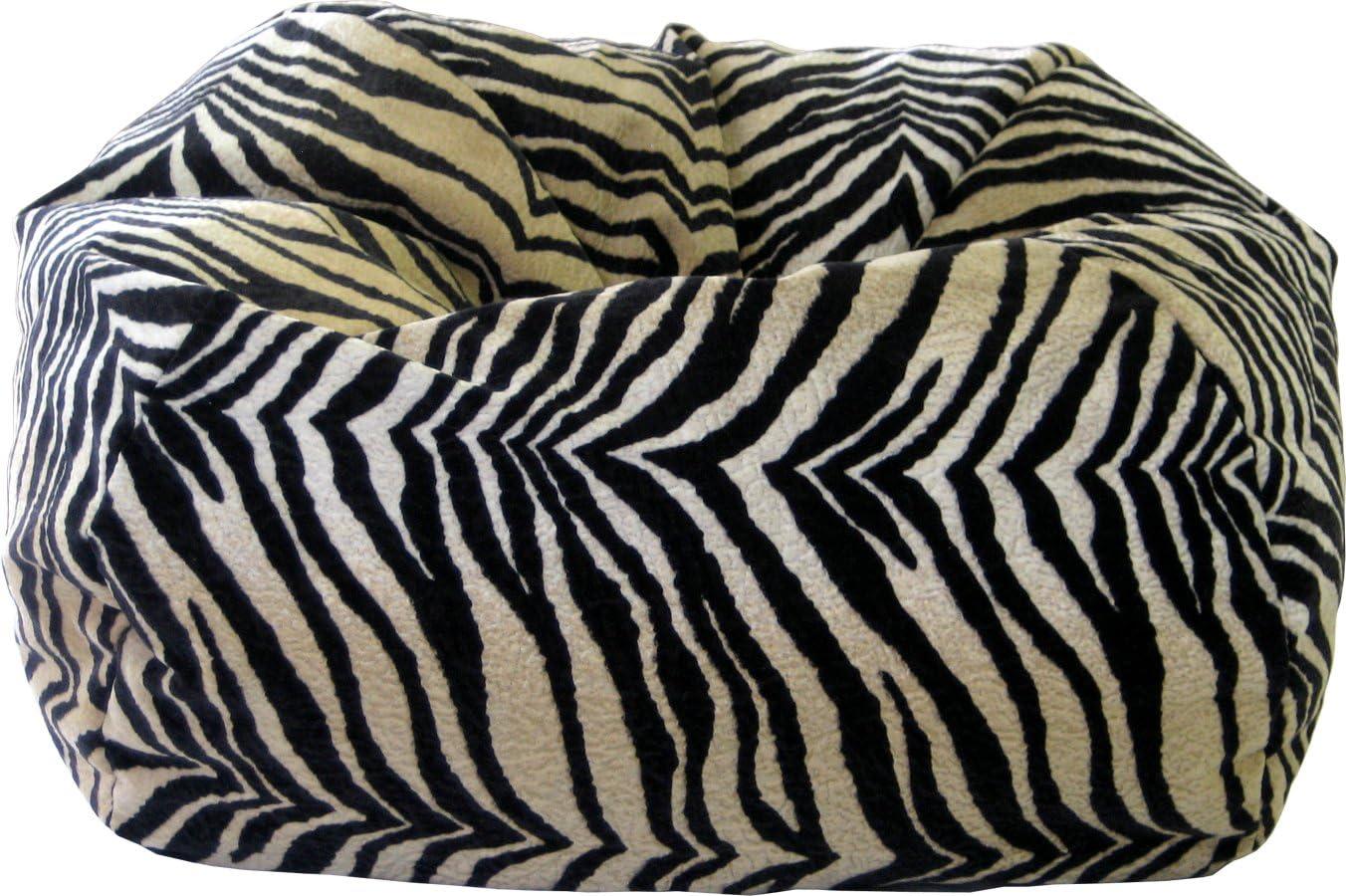 Gold Medal Bean Bags Medium Suede Beanbag, Tween Size, Bengali Tiger Print