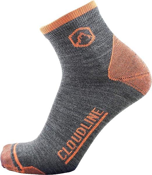 CloudLine - Calcetinos de Correr y Atletismo de Lana de Merino del Grupo Cuarto - Peso