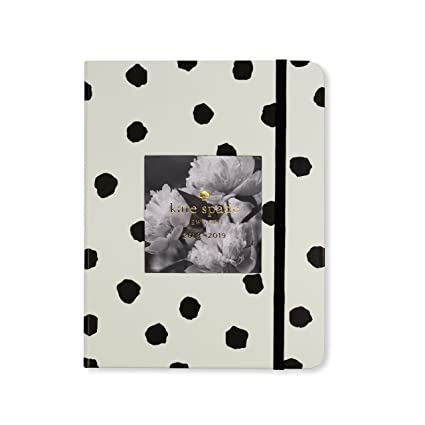 Kate Spade Medium Academic Daily Planner 2018-2019 with Daily Weekly Monthly Views and Happy Stickers (Spotty Dot)