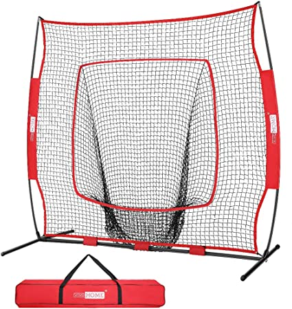 BASEBALL SOFTBALL PRACTICE NET 7/'×7/' Batting Hitting Training Frame Strike Zone