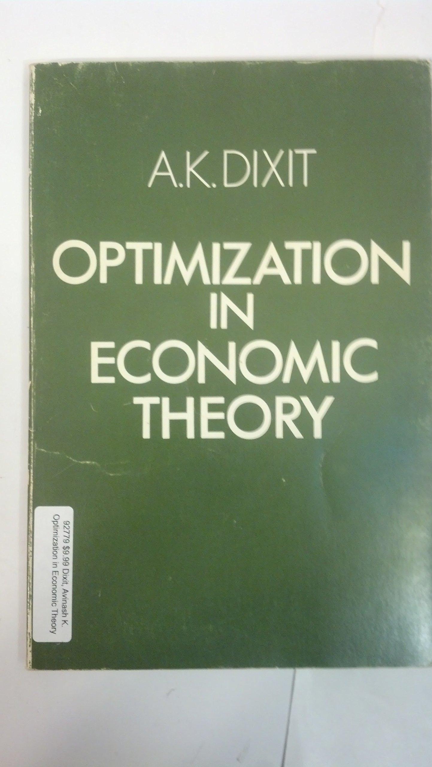 Optimization in Economic Theory: Amazon.es: Avinash K. Dixit: Libros en idiomas extranjeros