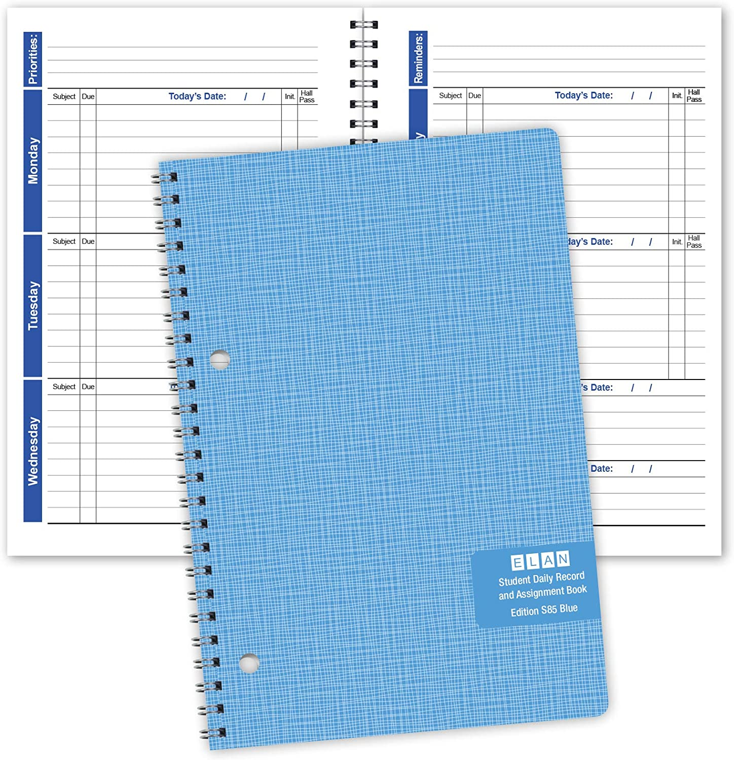 Student Planner Weekly Overview Format for a Full Year (S85-Blue) 5.5 x 8.5