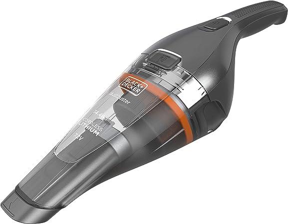 Black & Decker NVC220WC QW aspiratore portatile Senza sacchetto Cromo, Titanio, Trasparente