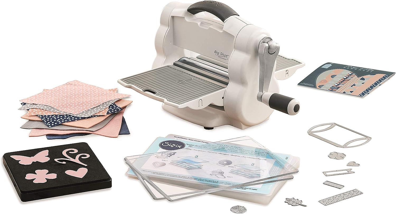 Sizzix Big Shot Foldaway Máquina de Corte y Repujado con Contenido Extra 662220, Abertura 15.24 cm, plástico ABS, Multicolor, Única