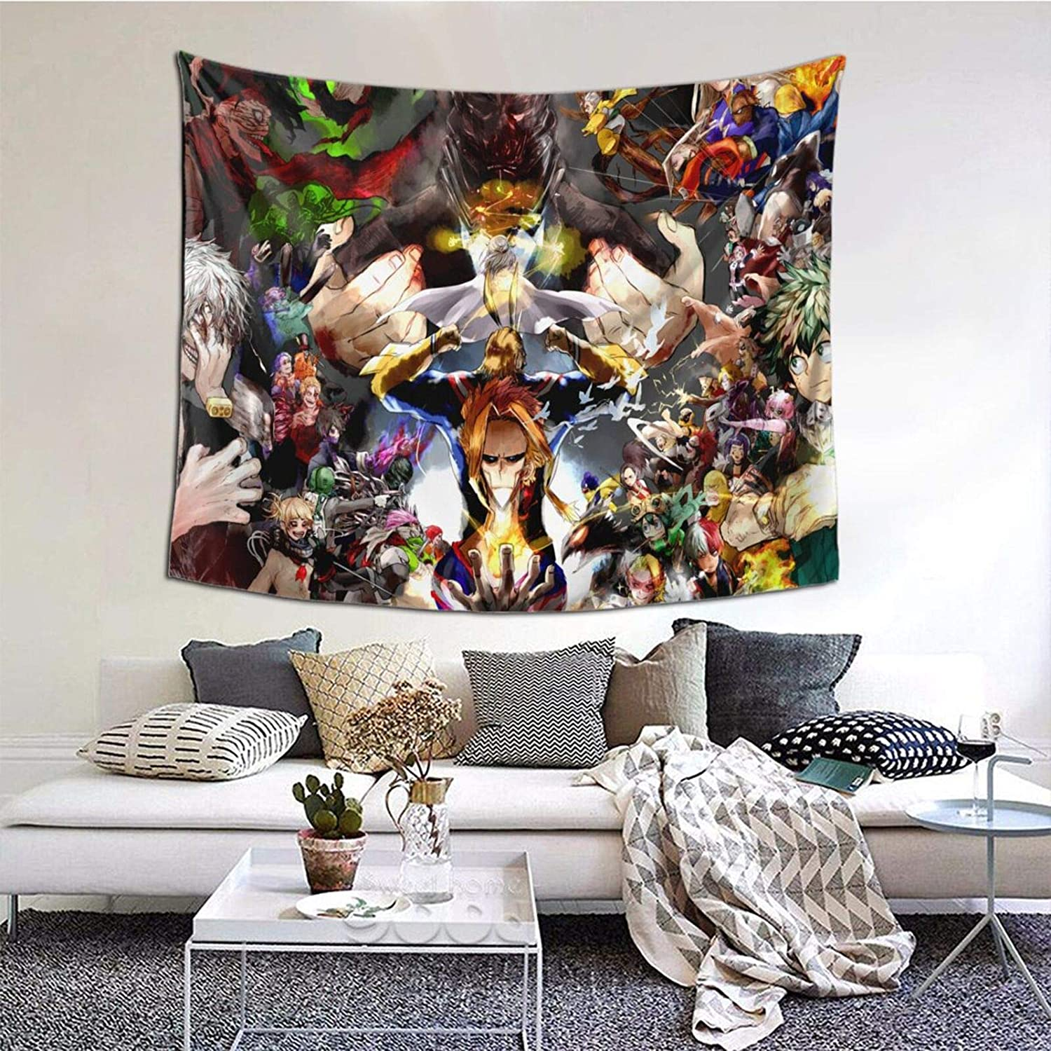 YIYI SMILE My Hero Academia Tapestry Wall Hanging Home Decor for Gifts Bedroom Living Room Decoration 50X60 inch -03