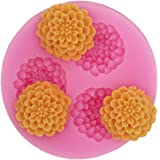 Longzang mini flower F0154 Fondant Mold Silicone Sugar mold Craft Molds DIY gumpaste flowers Cake Decorating