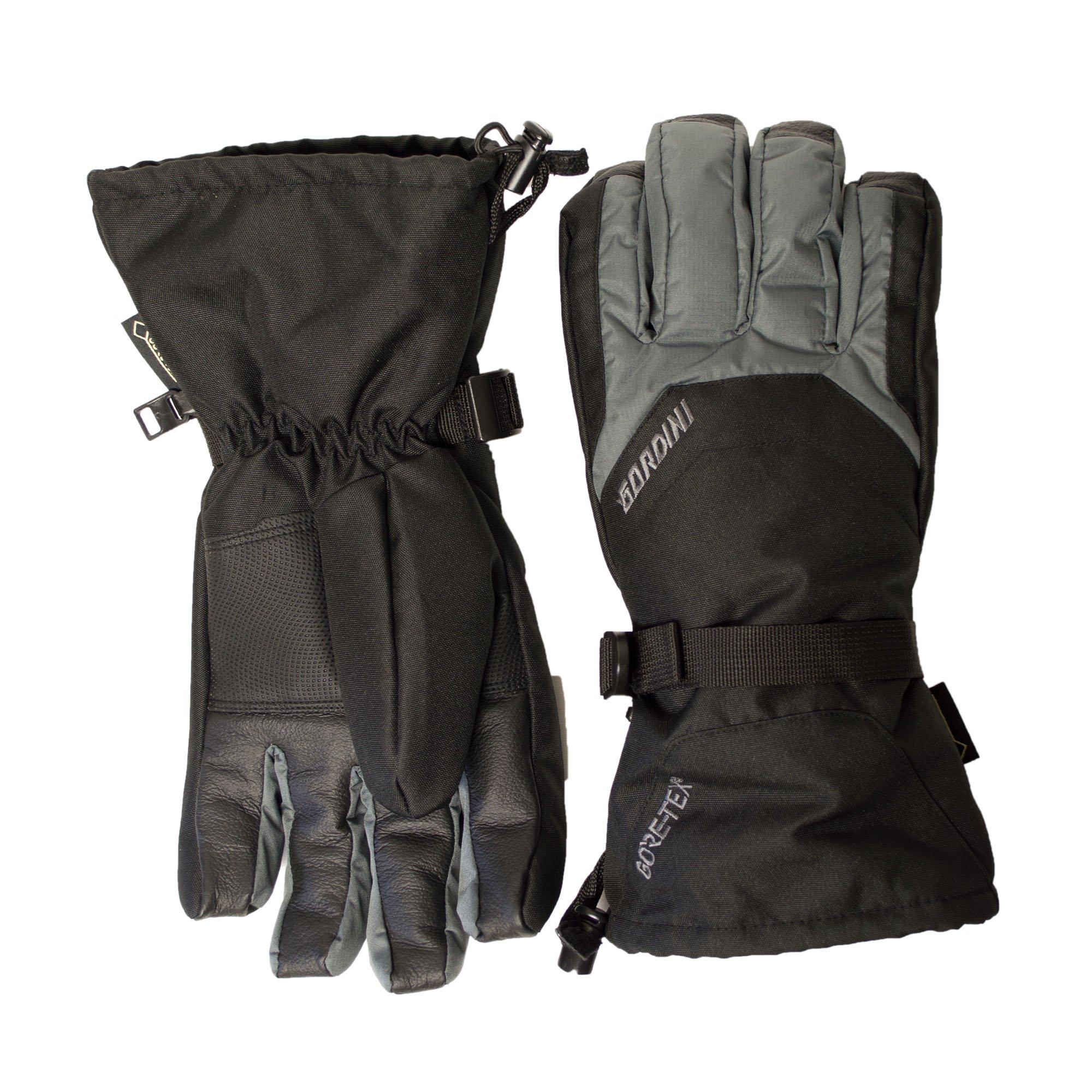 Gordini Gore-Tex Gauntlet Gloves-Black/Gunmetal-Medium