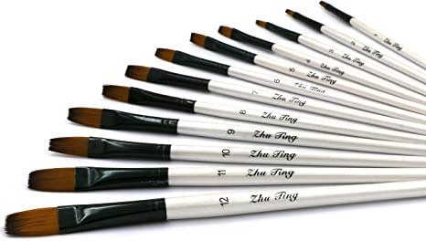 Oil Paint Brush Set 28 Pcs Watercolor Artist/'s Long Handle Pain... Acrylic
