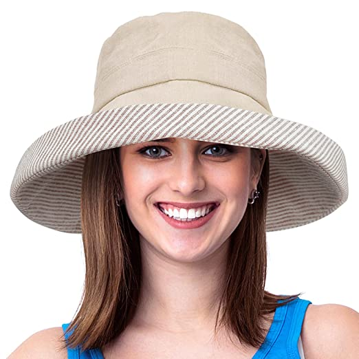 b511ad89 Image Unavailable. Image not available for. Color: Womens Bucket Hat UV Sun  Protection Lightweight Packable ...