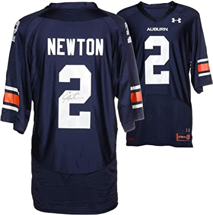 on sale fd781 29cde Cam Newton Auburn Tigers Autographed Blue Jersey - Fanatics ...