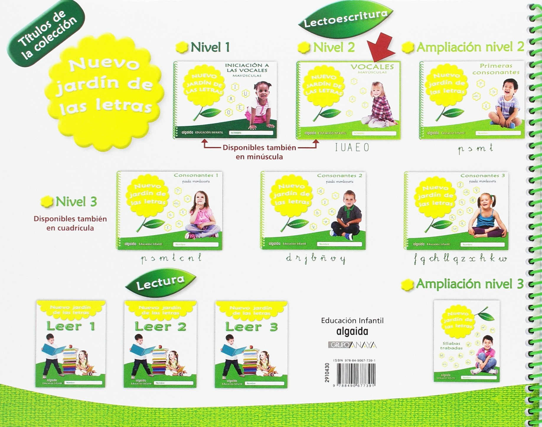 Nuevo Jardín de las Letras. Vocales. Mayúsculas. Educación Infantil: Amazon.es: Campuzano Valiente, María Dolores, Guerra Campuzano, Olimpia: Libros