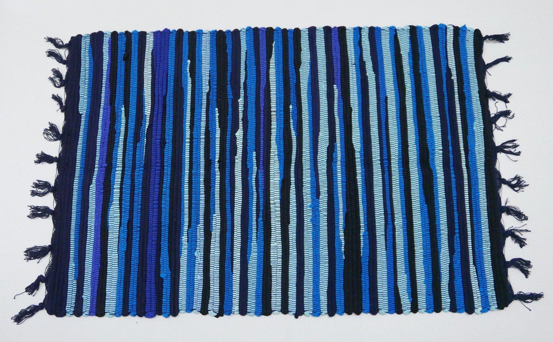 Amazon.com: Uniifurn Color Stripe Rag Rugs for Kitchen, Bathroom ...