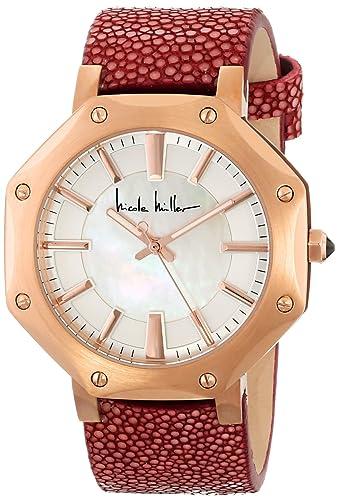 Nicole Miller NMC014E Dayna - Reloj analógico para Mujer con Correa de Color Rosa: Amazon.es: Relojes