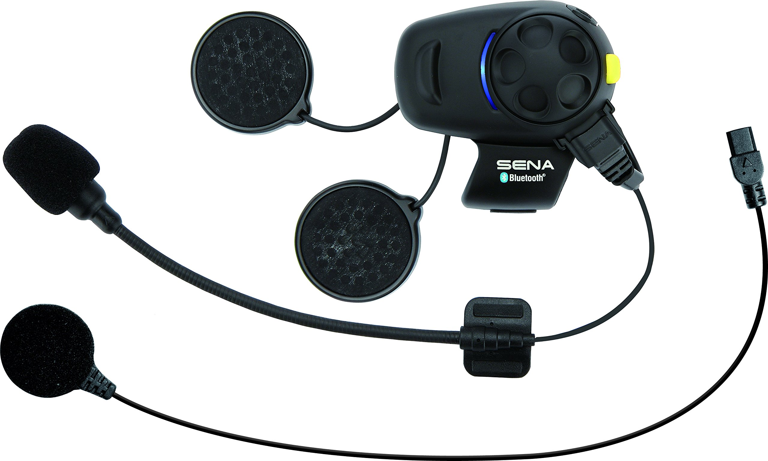 Sena Bluetooth Headset and Intercom with Built-In FM Tuner for Scooters/Motorcycles with Universal Microphone Kit