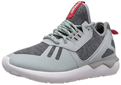 sale retailer 377dd 2e1ab adidas Originals Men's Tubular Runner Weave Grey, Red and ...